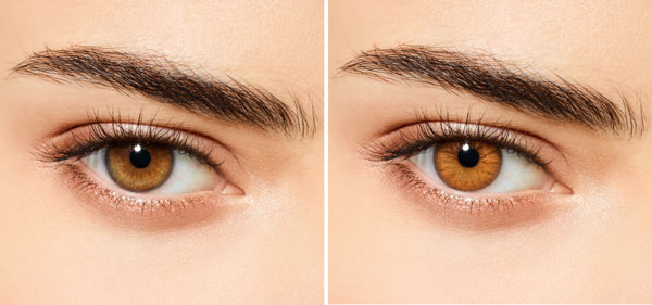 Before Amp After Light Brown Eyes